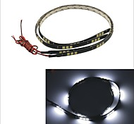 Carking™ 5050-30SMD-60CM Waterproof Car Decorative Lamp Strip-Black (2pcs)