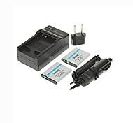 ismartdigi-olympus li-50b x2 (950mAh, 3.7v) batería de la cámara enchufe + cargador de coche + eu para SZ12 SZ30 sz31 sz11 xz-1 Pentax d-li92