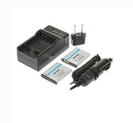 Ismartdigi-Olympus Li-50B x2(950mAh,3.7V)Camera Battery+EU Plug+Car Charger For SZ12 SZ31 SZ11 SZ30 XZ-1 Pentax D-Li92