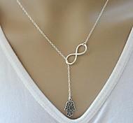 shixin® vintage (8) Legierung kleinen Anhänger Halskette (Silber, Gold) (1 Stück)