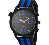 Men's Sport Design Fabric Band Quartz Wrist Watch(Assorted Colors)