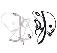 baiston professionelle Walkie-Talkie-Ohrhörer mit Schnittstelle des M-schwarz und weiß (2 Stück)