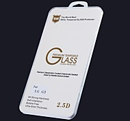 High Quality Oleophobic Coating 2.5D 0.26mm 9H Tempered Glass Screen Protector for LG G3