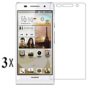 [3-Pack]Professional High Transparency LCD Crystal Clear Screen Protector with Cleaning Cloth for Huawei P6