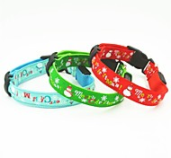 Cat / Dog Collars LED Lights Red / Green / Blue Nylon