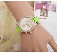 Женская мода стразами цветок стальной ленты кварцевые наручные часы (разных цветов)