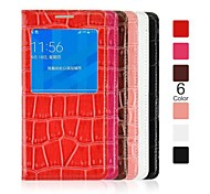 Angibabe Crocodile Pattern Flip Leather Case with View Window for Samsung Galaxy Alpha G8508S(Assorted Color)