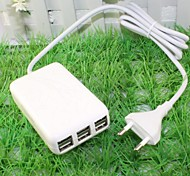 6 USB Port  AC Power Charger Adapter for iPad/iPhone/Samsung and Others Free Shipping (30W 5V 6A, 110-240V EU Plug)