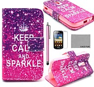 COCO FUN® Calm Sparkle Pattern PU Leather Case with Screen Protector, Stylus and Stand for Samsung Galaxy Ace 2 i8160