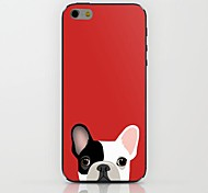 Half Face Red Puppy Pattern hard Case for iPhone 6