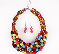 Z&X®  Fashion Europe Bohemia Colorful Resin Stones Jewelry Set(Including Necklaces Earrings)
