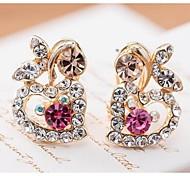 Love Is You Popularity Explosion Heart-shaped Alloy Stud Earrings