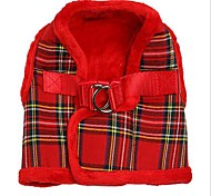 Luxury Fur Lined Tartan Harness (Assorted Colors,Assorted Size)