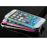 Bicolor Metal Frame Hard Case for iPhone 6(Assorted Colors)