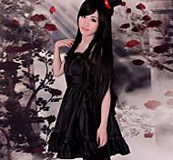 Cosplay Costume Inspired by K-on! Bass Player Mio Akiyama Black Dress