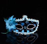 moda sexy flor máscara dança rendas