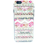 Pink National Wind Pattern Plastic Hard Cover for iPhone 6