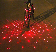 UNGROL Red Babysbreath Design 1 Laser Module 6 LED 6 Flash Mode Black Bike Warning Laser Light