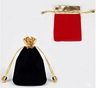 Schmucktaschen Stoff Schwarz / Rot