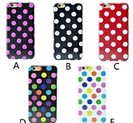 Wave Point Pattern Soft Cover for iPhone 6/6S  (Assorted Colors)