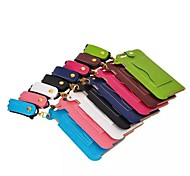 5.5 Inch  PU Leather Case Lanyard Pattern with Hand Strap for iPhone 6 Plus(Assorted Colors)