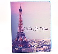 Beautiful Eiffel Tower View Pattern PU Leather Full Body Case with Stand for iPad 2/3/4
