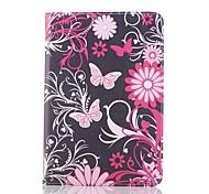 Pink Butterfly Pattern Leather Full Body Case  for iPad mini 3, iPad mini 2, iPad mini