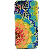 Peony Pattern Plastic Hard Cover for iPhone 6 Plus