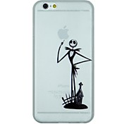 The Skeleton Gentleman Pointing up Apple Pattern PC Hard Transparent Back Cover Case for iPhone 6