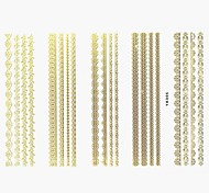 Lovely Nail Art Stickers Decals Wedding Lace Series Nail Accessory for Acrylic Nail Tips DIY Nail Art DecorationsNO.05