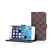 HHMM Grid Pattern Can Insert Card PU Leather Cases with Stand  for iPhone 6 Case 4.7 inch(Assorted Colors)