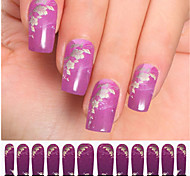 12PCS Purple Watermark Nail Art Stickers C7-003