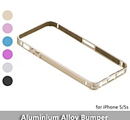 Straight Flange  Metal Protective Aluminum Alloy Bumper Frame Case For iPhone 5 / 5s - (Assorted Colors)