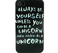 Be Youself Letter Pattern Hard Case for iPhone 4/4S