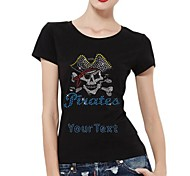 Personalized T-shirts Pirate Skull Pattern Women's Cotton Short Sleeves