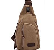 Outdoor Unisex Fashional Brown Canvas Shoulder Bag