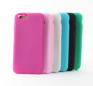 Matte Silicone Soft Back Case for iPhone 6 (Assoted Colors)