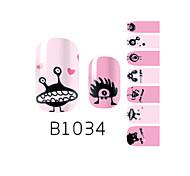 yemannvyou®14pcs мода мультфильм др картина ногтей блеск наклейка b1034