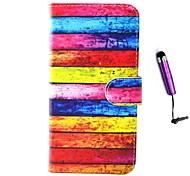 design do arco íris pu couro cobrindo todo o corpo com o estilete para iphone 6 mais