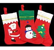 arbre de Noël bas de décoration bonbons chaussettes sac 35 * 25cm de façon aléatoire