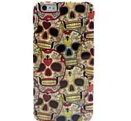 For iPhone 6 Case / iPhone 6 Plus Case Pattern Case Back Cover Case Skull Soft TPU iPhone 6s Plus/6 Plus / iPhone 6s/6
