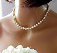 Женское, стильное ожерелье из искусственного жемчуга (1 шт)