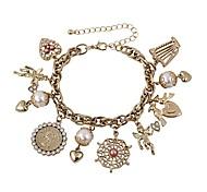 Fashion Women Multi Charm Bracelet