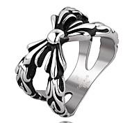 X Super Cool Personality Man Titanium Steel Ring