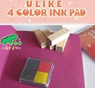4cm x 4cm quatre couleurs scrapbooking bricolage pad d'encre de l'artisanat