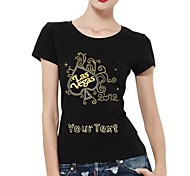 Personalized T-shirts Las Vegas Pattern Women's Cotton Short Sleeves