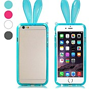 Cute Rabbit Ear Pattern Frame Design Bumper Border TPU Soft Case for iPhone 6 (Assorted Colors)