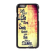 Set Your Life On Fire Pattern Aluminum Hard Case for iPhone 6