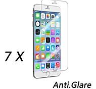 7 pezzi opaco protezione anteriore dello schermo anti-impronta digitale per iPhone 6S / 6