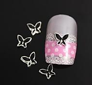 10pcs Fashion Black Butterfly Alloy Nail Art Decoration
